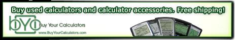 Buy Used Calculators at Buy Your Calculators .com